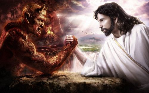 Jesus Arm Wrestle
